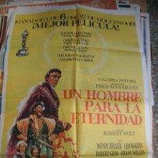 Cine: POSTER ORIGINAL DE CINE 70X100CM UN HOMBRE PARA LA ETERNIDAD. Lote 62291596