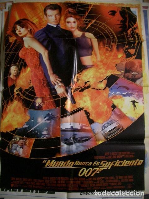 POSTER ORIGINAL DE CINE 70X100CM 007 EL MUNDO NUNCA ES SUFICIENTE (Cine - Posters y Carteles - Acción)