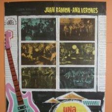 Cine: CARTEL,POSTER CINE ORIGINAL- UNA VENTANA AL EXITO-JUAN RAMON-ANA VERONES- LOS IRACUNDOS-1967. R-3374. Lote 62345119