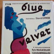 Cine: BLUE VELVET DE DAVID LYNCH - POSTER REPRODUCCIÓN 1986 - NUEVO - 40 X 30 CM. Lote 62528688