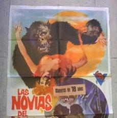 Cine: CARTEL DE CINE ORIGINAL LAS NOVIAS DEL MONSTRUO . Lote 62586668