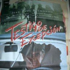 Cine: POSTER ORIGINAL DE CINE 70X100CM TESTIGO DE EXCEPCIÓN CON JEAN PAUL BELMONDO. Lote 62618760