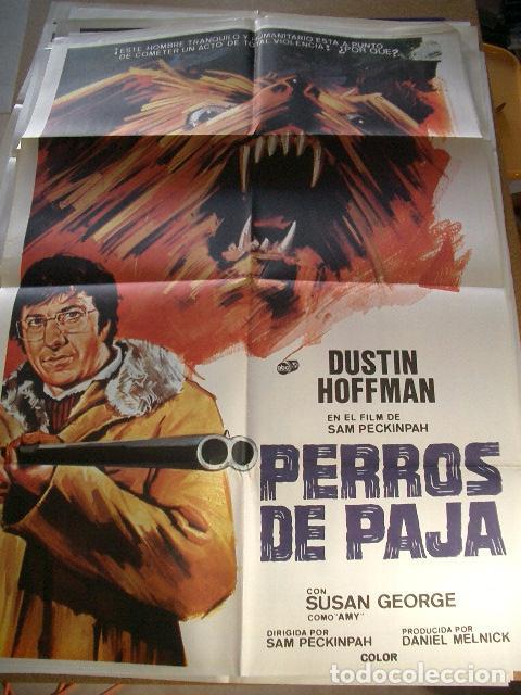 POSTER ORIGINAL DE CINE 70X100CM PERROS DE PAJA DUSTIN HOFFMAN DE SAM PEKIMPAH (Cine - Posters y Carteles - Acción)