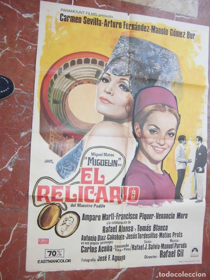 CARMEN SEVILLA CARTEL DE LA PELICULA EL RELICARIO 70 X 105... (Cine - Posters y Carteles - Musicales)