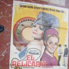 Cine: CARMEN SEVILLA CARTEL DE LA PELICULA EL RELICARIO 70 X 105.... Lote 62923556