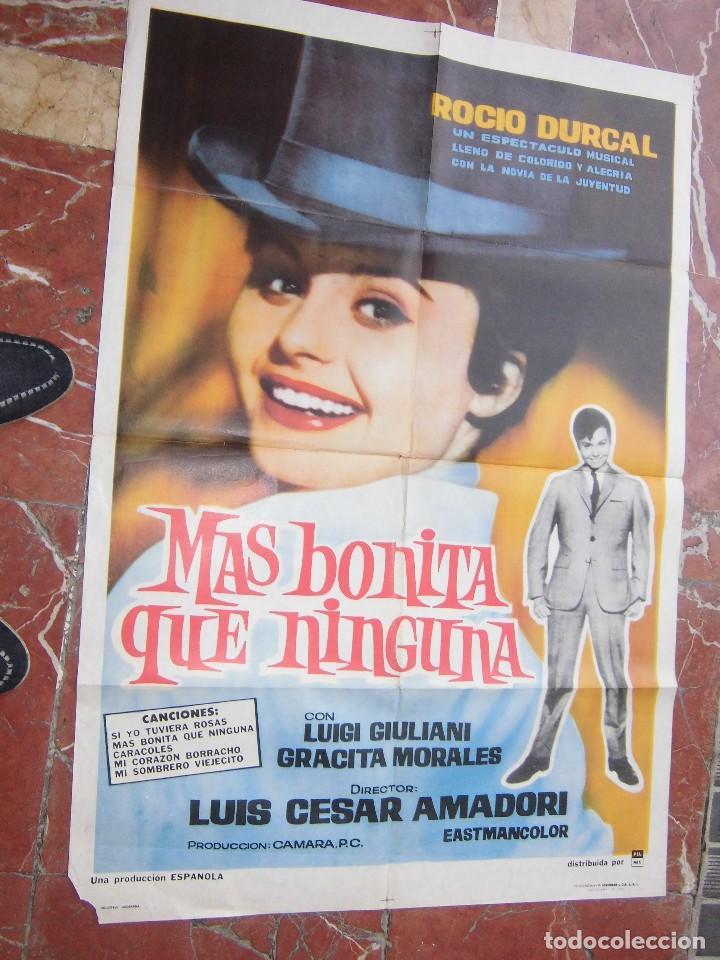 ROCIO DURCAL CARTEL DE LA PELICULA MAS BONITA QUE NINGUNA 70 X 105... (Cine - Posters y Carteles - Musicales)