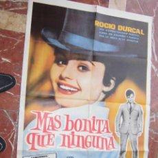 Cine: ROCIO DURCAL CARTEL DE LA PELICULA MAS BONITA QUE NINGUNA 70 X 105... . Lote 62923704