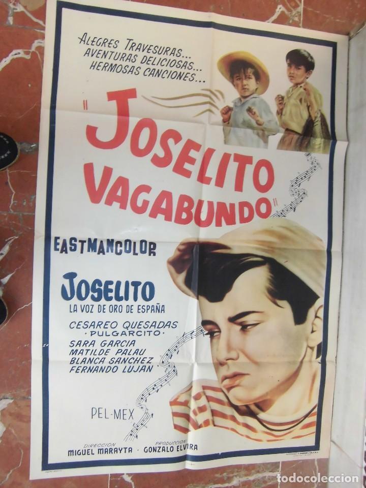 JOSELITO CARTEL DE LA PELICULA JOSELITO VAGABUNDO 70 X 105... (Cine - Posters y Carteles - Musicales)