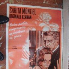 Cine: SARITA SARA MONTIEL CARTEL DE LA PELICULA PECADO DE AMOR 70 X 105... . Lote 62950728