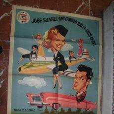 Cine: JOSE SUAREZ CARTEL DE LA PELICULA LAS AEROGUAPAS 70 X 105... . Lote 62953988