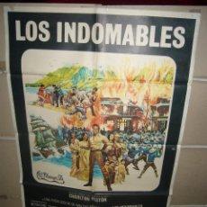 Cine: LOS INDOMABLES CHARLTON HESTON POSTER ORIGINAL 70X100 YY (1402). Lote 62979228