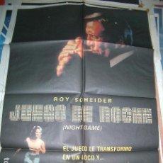 Cine: POSTER ORIGINAL DE CINE 70X100CM JUEGOS DE NOCHE. Lote 62996872