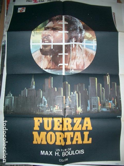 POSTER ORIGINAL DE CINE 70X100CM FUERZA MORTAL (Cine - Posters y Carteles - Acción)