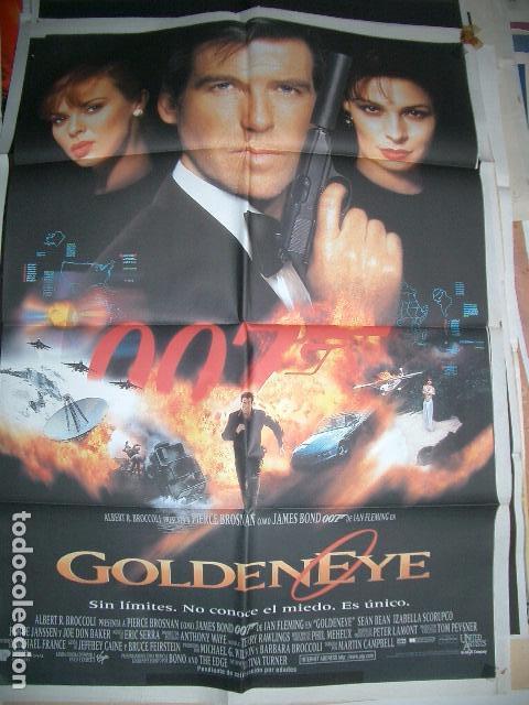 POSTER ORIGINAL DE CINE 70X100CM 007 GOLDEN EYE (Cine - Posters y Carteles - Acción)