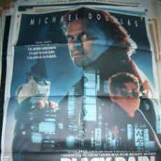Cinéma: POSTER ORIGINAL DE CINE 70X100CM BLACK RAIN. Lote 63005532
