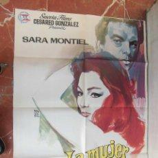 Cine: SARITA SARA MONTIEL CARTEL DE LA PELICULA LA MUJER PERDIDA 70 X 105... . Lote 63024588