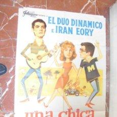 Cine: DUO DINAMICO, IRAN EORY CARTEL DE LA PELICULA UNA CHICA PARA DOS 70 X 105... . Lote 63024940