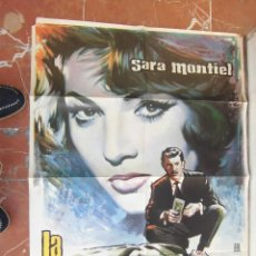 Cine: SARA SARITA MONTIEL CARTEL DE LA PELICULA LA AMBICIOSA 70 X 105... . Lote 63025308