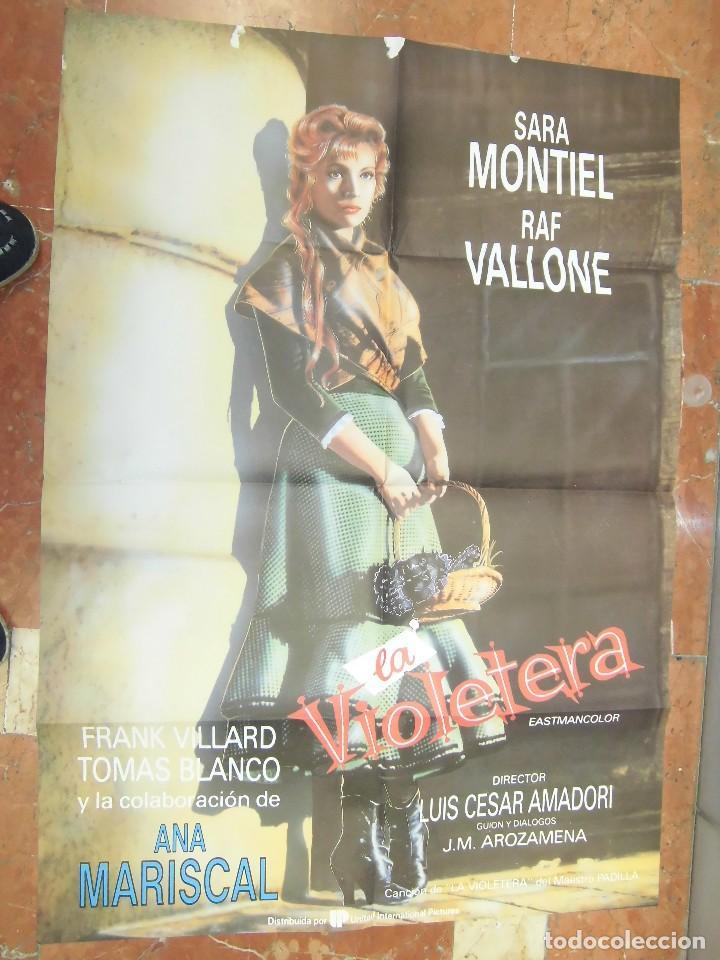 SARA SARITA MONTIEL CARTEL DE LA PELICULA LA VIOLETERA 70 X 105... (Cine - Posters y Carteles - Clasico Español)