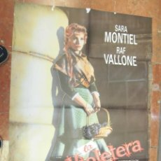 Cine: SARA SARITA MONTIEL CARTEL DE LA PELICULA LA VIOLETERA 70 X 105... . Lote 63025412