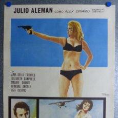 Cine: PELIGRO MUJERES EN ACCION - JULIO ALEMAN, ALMA DELIA FUENTES - AÑO 1970. Lote 63181888