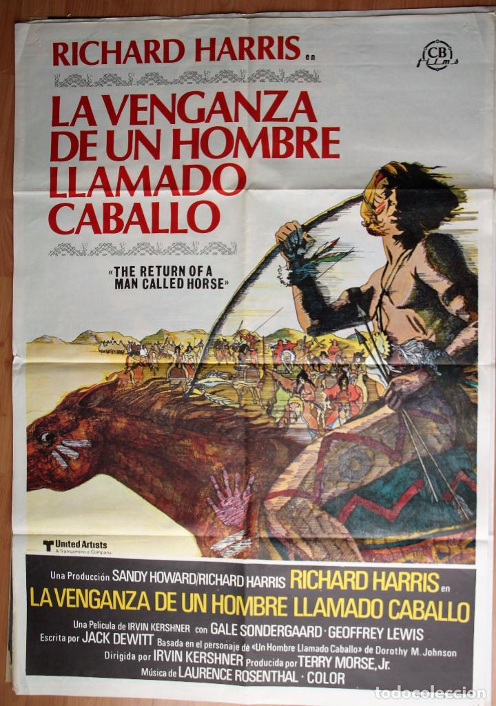 CARTEL CINE. LA VENGANZA DE UN HOMBRE LLAMADO CABALLO. 1976 (Cine - Posters y Carteles - Aventura)