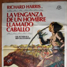 Cine: CARTEL CINE. LA VENGANZA DE UN HOMBRE LLAMADO CABALLO. 1976. Lote 63188332