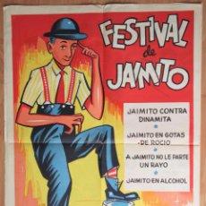 Cine: FESITIVAL DE JAIMITO. CARTEL DE CINE LITOGRAFICO. 1964. Lote 63190608