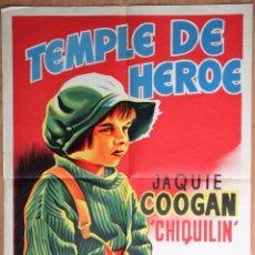 Cine: TEMPLE DE HEROE. POSTER -CARTEL LITOGRÁFICO. 1964. Lote 63190816