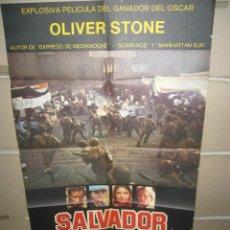 Cine: SALVADOR OLIVER STONE POSTER ORIGINAL 70X100(419). Lote 63286835