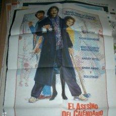 Cine: POSTER DE CINE ORIGINAL 70X100CM EL ASESINO DEL CALENDARIO . Lote 63407628