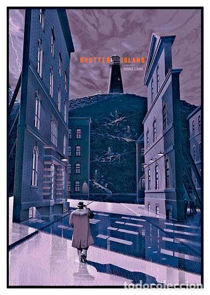 SHUTTER ISLAND. MARTIN SCORSESE. LÁMINA CARTEL DE LA PELÍCULA 45 X 32 CMS. (Cine - Posters y Carteles - Suspense)