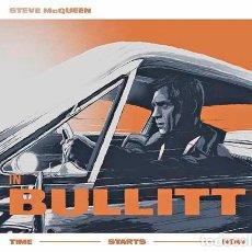Cine: BULLITT. STEVE MCQUEEN. 1968. LÁMINA CARTEL DE LA PELÍCULA 45 X 32 CMS.. Lote 221613583