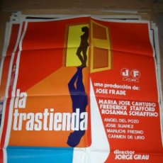 Cine: POSTER ORIGINAL DE CINE 70X100CM LA TRASTIENDA. MARIA JOSE CANTUDO, FREDERICK STAFFORD, ROSANNA SCHI. Lote 195170556