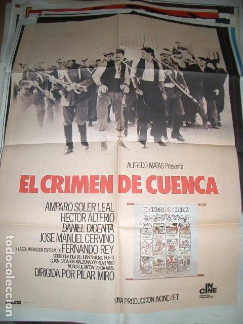 POSTER ORIGINAL DE CINE 70X100CM EL CRIMEN DE CUENCA (Cine - Posters y Carteles - Clasico Español)