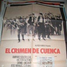 Cine: POSTER ORIGINAL DE CINE 70X100CM EL CRIMEN DE CUENCA. Lote 194186660