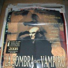 Cine: PÓSTER ORIGINAL DE CINE 70X100CM LA SOMBRA DEL VAMPIRO. DE E. ELIAS MERHIGE. JOHN MALKOVICH. Lote 63768519