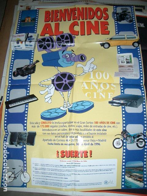 PÓSTER ORIGINAL DE CINE 70X100CM BIENVENIDOS AL CINE (Cine - Posters y Carteles - Documentales)