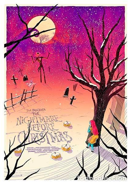 PESADILLA ANTES DE NAVIDAD. TIM BURTON . 1993. LÁMINA CARTEL. NIGHTMARE BEFORE CHRISTMAS (Cine - Posters y Carteles - Musicales)