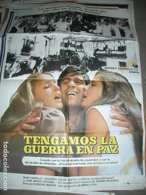 PÓSTER DE CINE ORIGINAL 70X100CM TENGAMOS LA GUERRA EN PAZ (Cine - Posters y Carteles - Comedia)