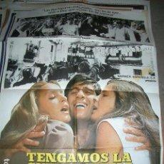 Cine: PÓSTER DE CINE ORIGINAL 70X100CM TENGAMOS LA GUERRA EN PAZ. Lote 63817031