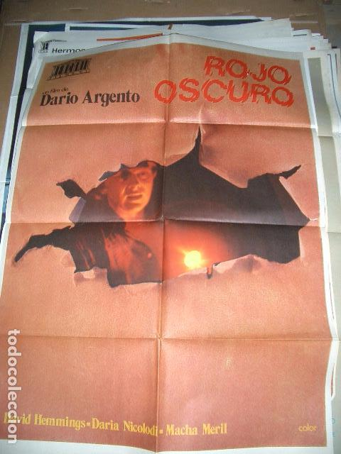 PÓSTER ORIGINAL DE CINE 70X100CM ROJO OSCURO DE DARÍO ARGENTO (Cine - Posters y Carteles - Terror)