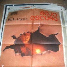 Cine: PÓSTER ORIGINAL DE CINE 70X100CM ROJO OSCURO DE DARÍO ARGENTO. Lote 115678100