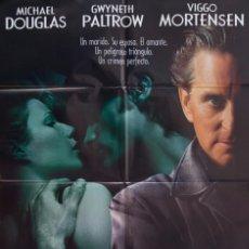 Cine: CARTEL DE CINE UN CRIMEN PERFECTO 1998. Lote 64002891