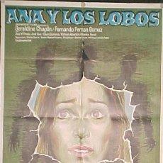 Cine: GERALDINE CHAPLIN, FERNANDO FERNAN GOMEZ, DIR: CARLOS SAURA, ANA Y LOS LOBOS. Lote 13421146