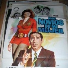 Cine: POSTER ORIGINAL DE CINE 70X100CM LOS NOVIOS DE MI MUJER. Lote 287420233
