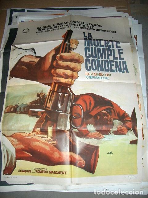 POSTER ORIGINAL DE CINE 70X100CM LA MUERTE CUMPLE CONDENA 1966 (Cine - Posters y Carteles - Westerns)