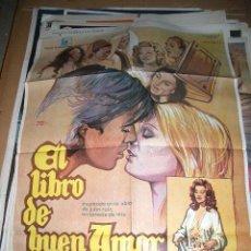 Cinema: PÓSTER ORIGINAL DE CINE 70X100CM LIBRO DE BUEN AMOR 1975 PATXI ANDION Y BLANCA ESTRADA. Lote 64050691