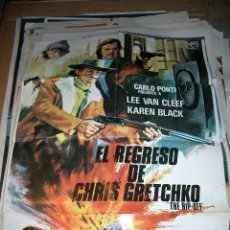 Cine: POSTER ORIGINAL DE CINE 70X100CM EL REGRESO DE CHRIS GRETCHKO LEE VAN CLEEF ANTONIO MARGHERITI. Lote 64051379