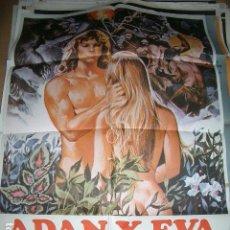 Cine: PÓSTER DE CINE ORIGINAL 70X100CM ADAN Y EVA LA PRIMERA HISTORIA DE AMOR, MARK GREGORY, ANDREA GOLD. Lote 64070007
